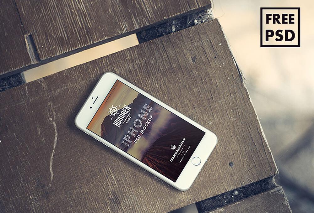 Free 10 iPhone 6 Mockups PSD Template1