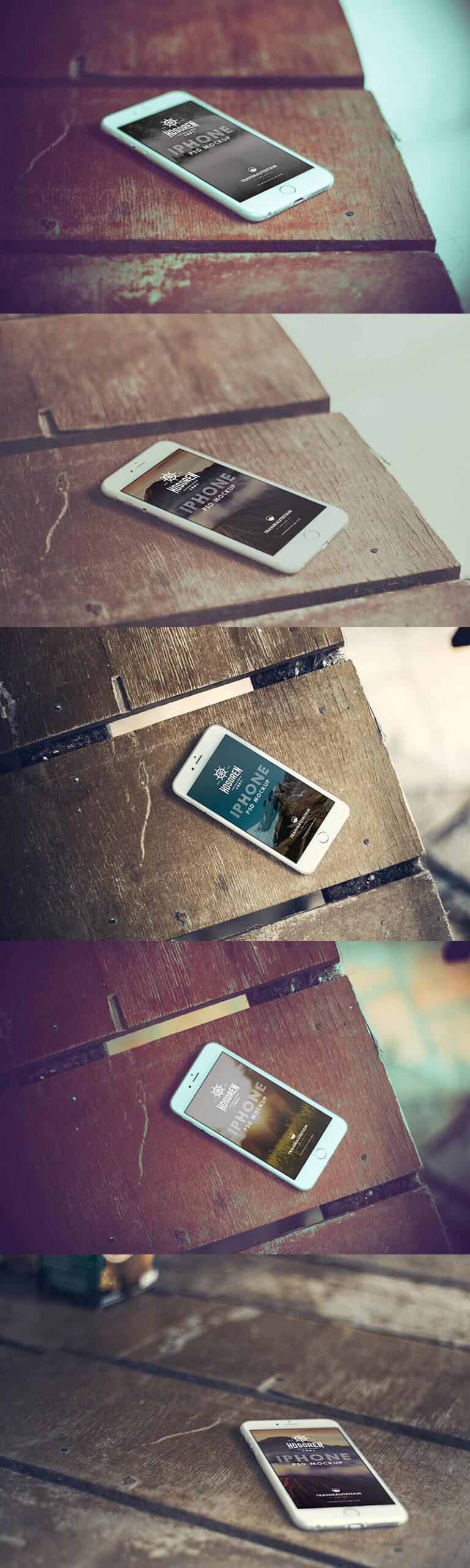 Free 10 iPhone 6 Mockups PSD Template2