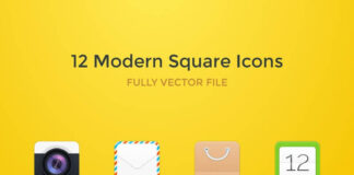 Free 12 Modern Square Rounded Vector Icons