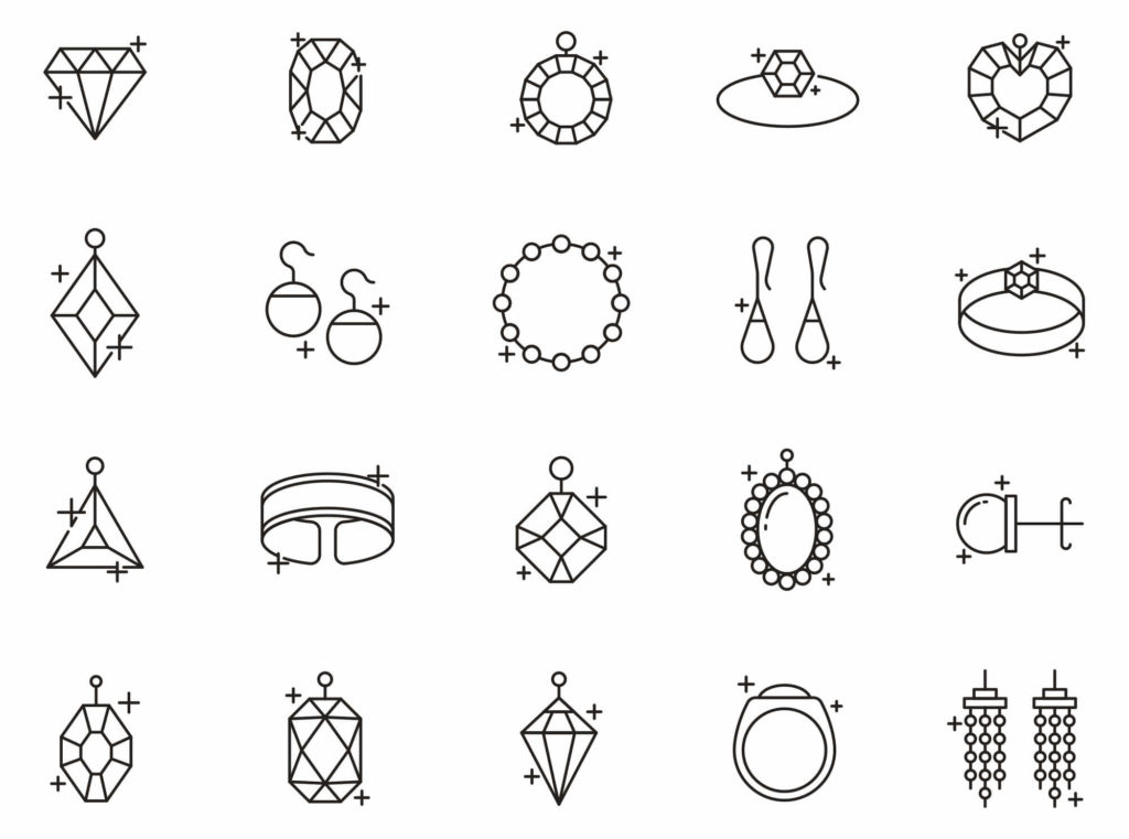 Free 20 Jewelry Vector Icons (Ai)
