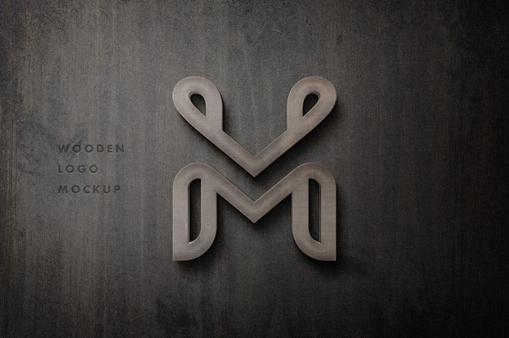 Free 3D Wooden Sign Logo Mockup PSD Template