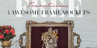 Free 4 Real Photo Frame Mockups PSD Template1