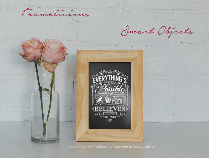 Free 4 Real Photo Frame Mockups PSD Template3