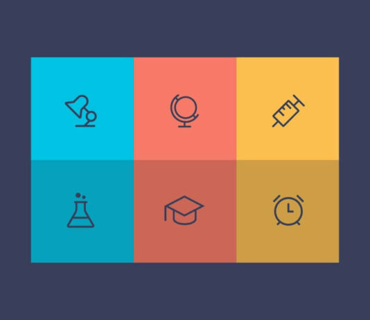 Free 6 Modern Education Vector Icons