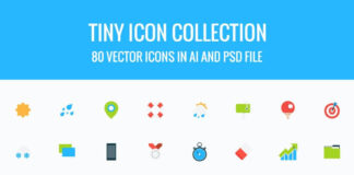 Free 80+ Tiny Vector Icons Collection