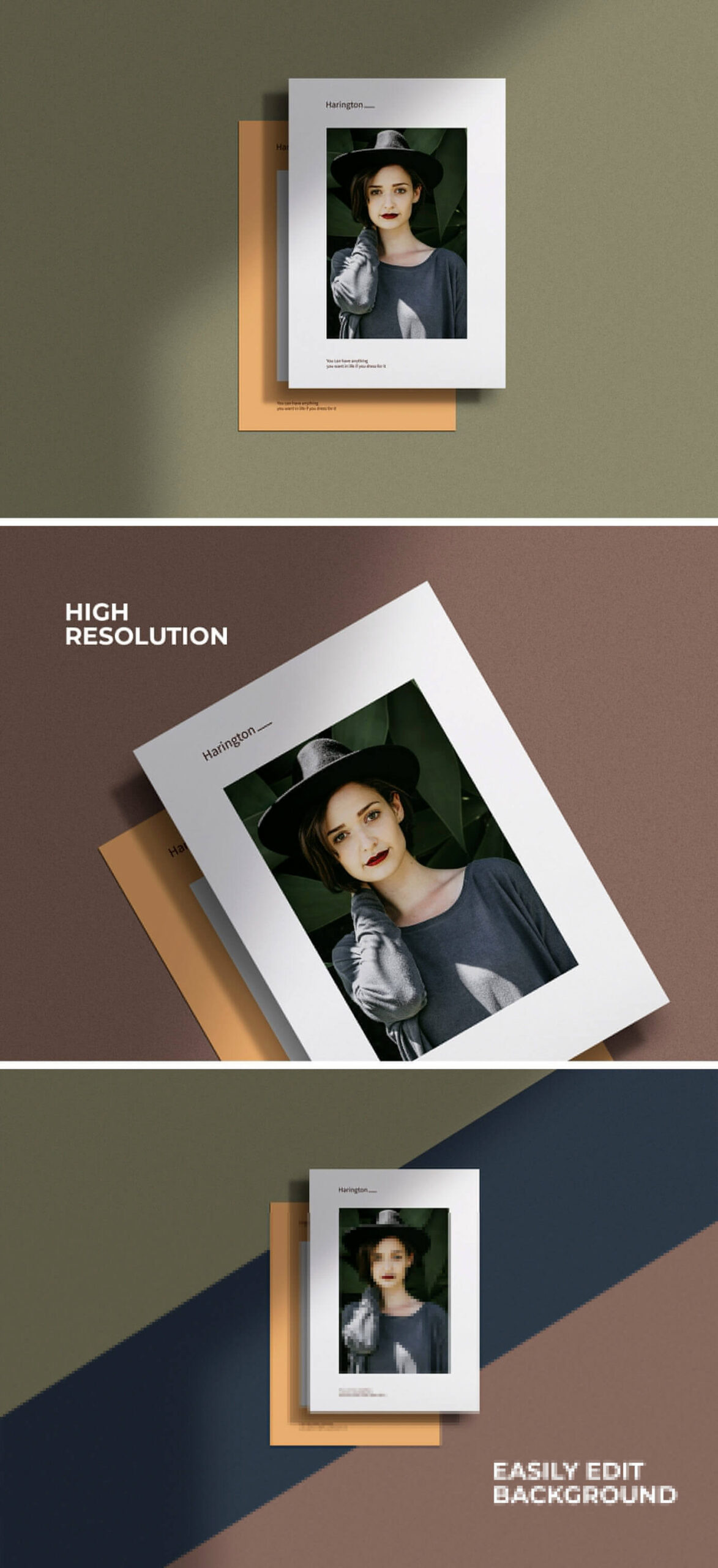 Free A4 Paper Mockup With Shadow Overlay PSD Template2