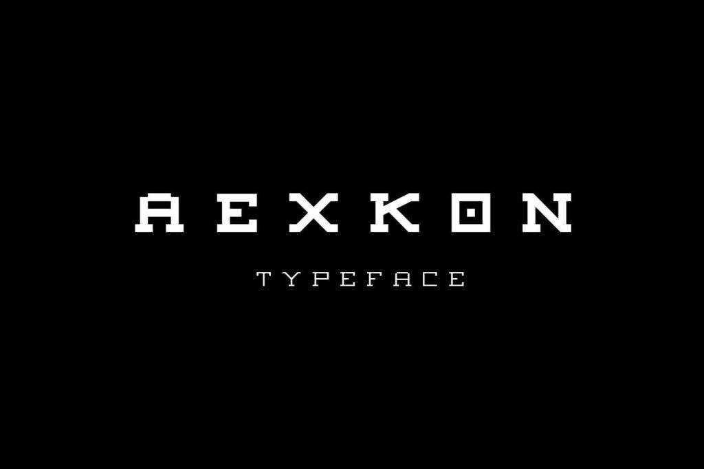 Free Aexkon Pixel Typeface1