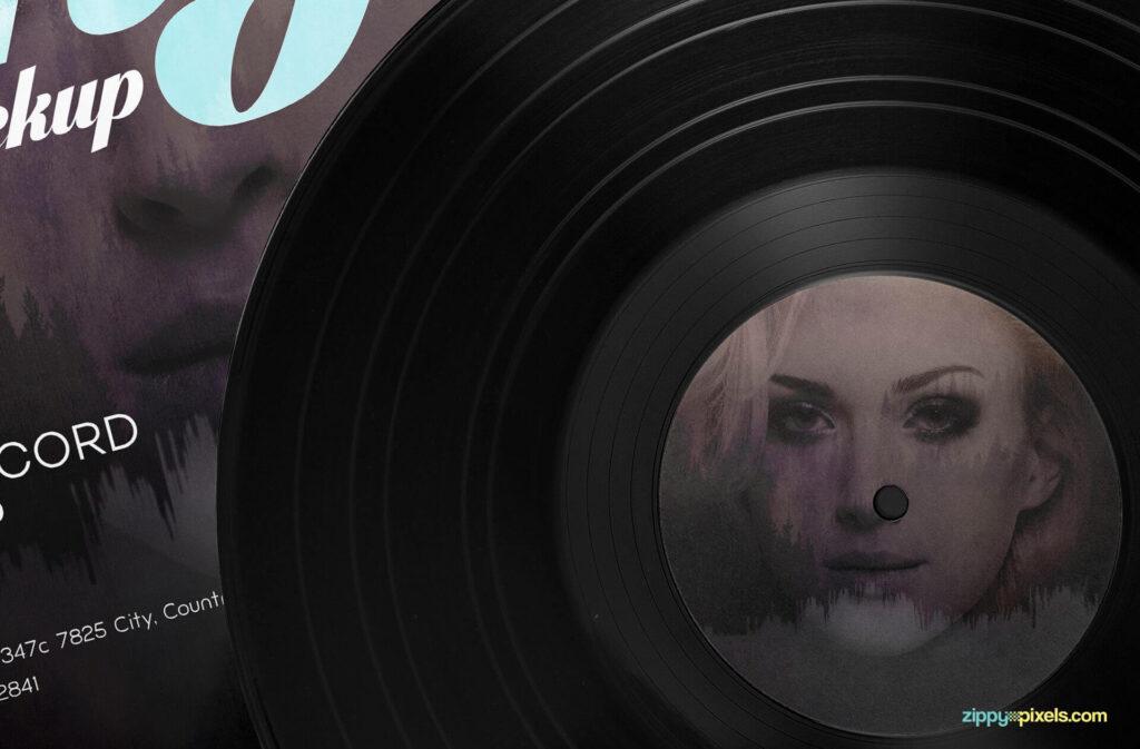 Free Artwork Record Album Mockup PSD Template6
