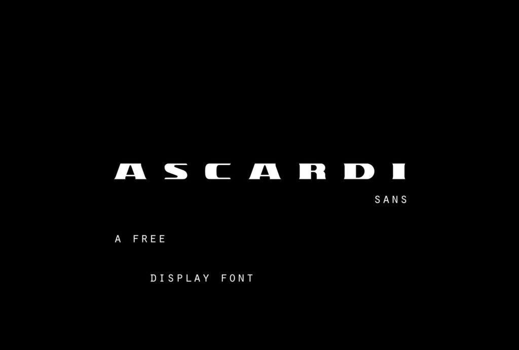 Free Ascardi Sans Display Typeface1