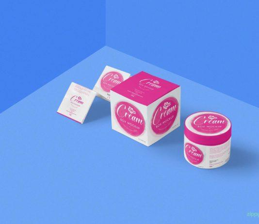 Free Beautiful Cosmetic Cream Mockup PSD Template1