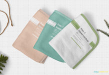 Free Beautiful Hand Towel Mockup