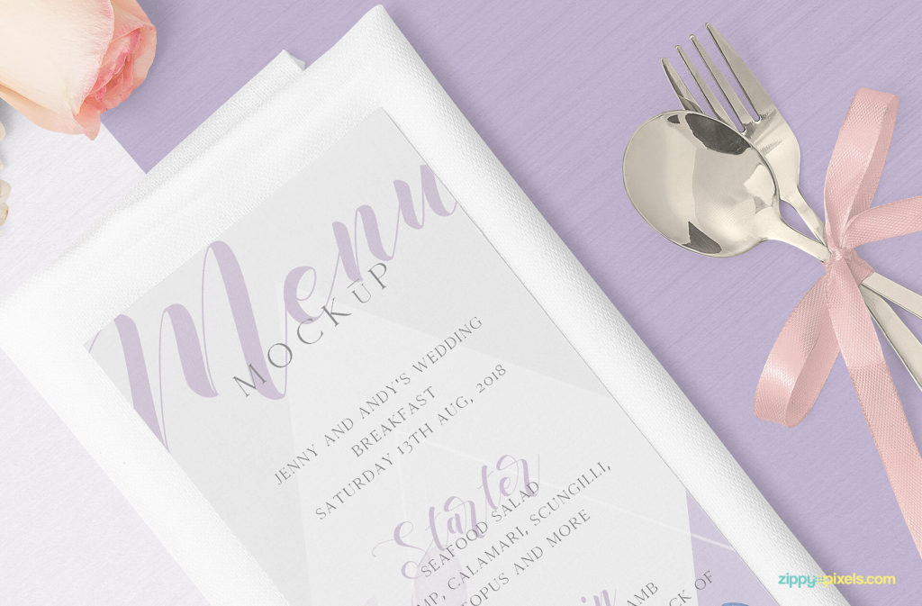 Free Beautiful Restaurant Menu Mockup set