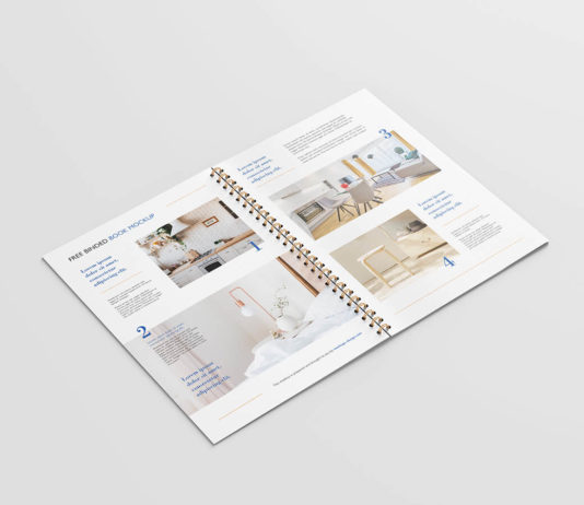 Free Binded Book Mockup PSD Template1