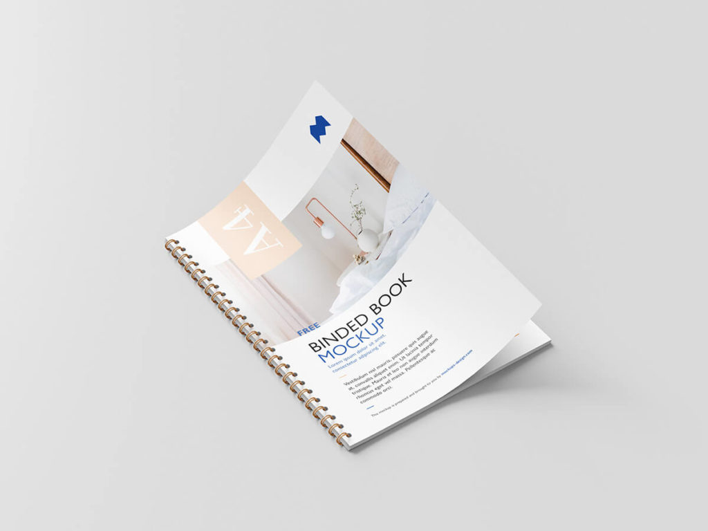 Free Binded Book Mockup PSD Template3