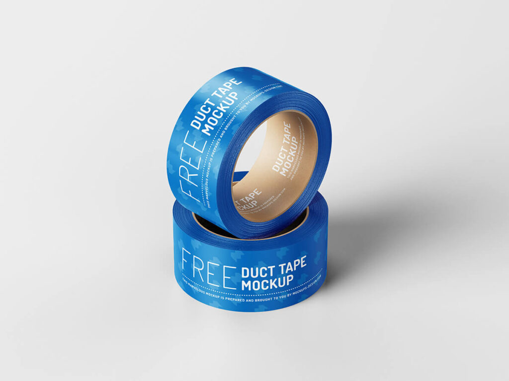 Free Branded Duct Tape Mockup PSD Template1