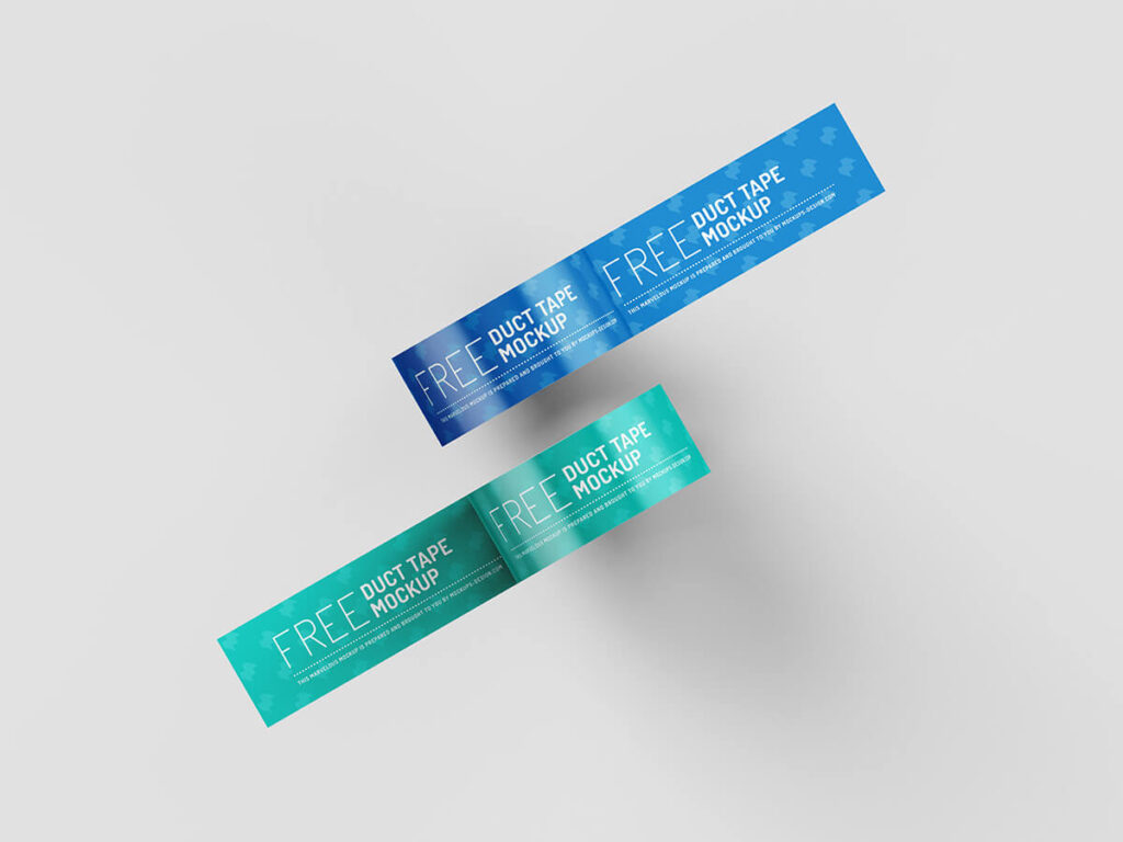Free Branded Duct Tape Mockup PSD Template3