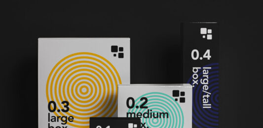 Free Branding Packaging Box Mockup Set PSD Template1