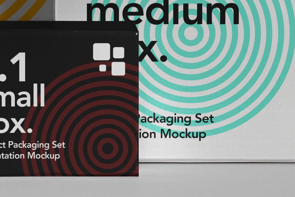 Free Branding Packaging Box Mockup Set PSD Template3