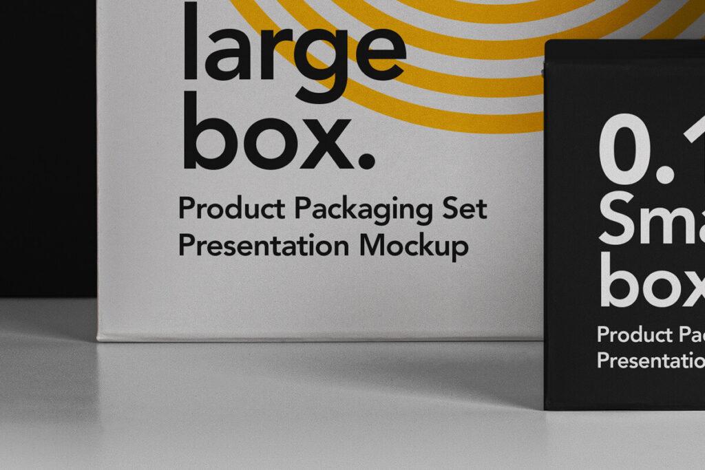 Free Branding Packaging Box Mockup Set PSD Template4