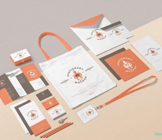 Free Business Stationery Mockup Design