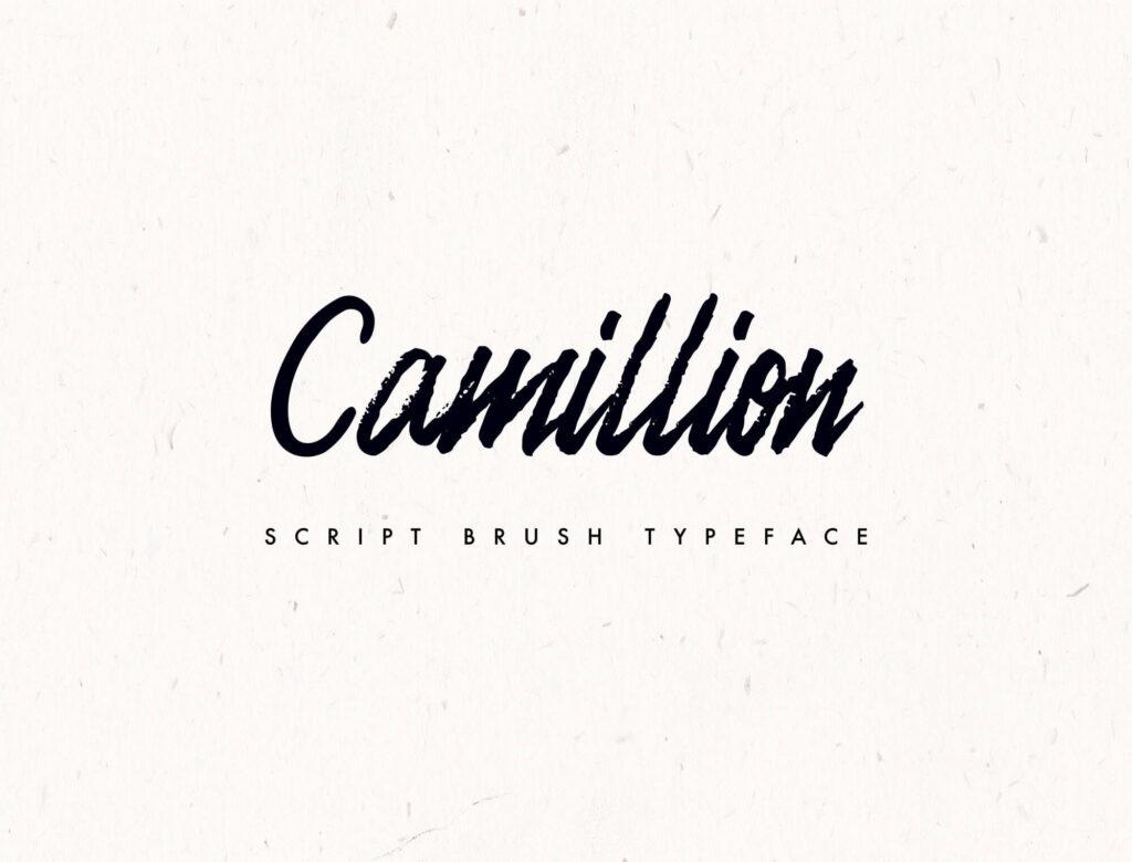 Free Camellion Brush Script Typeface1