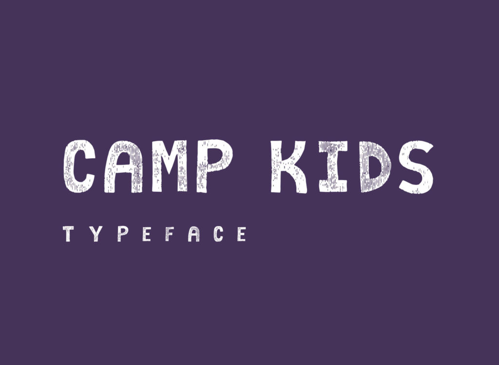 Free Camp Kids Comic Style Typeface1