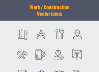Free Construction Work Vector Icons