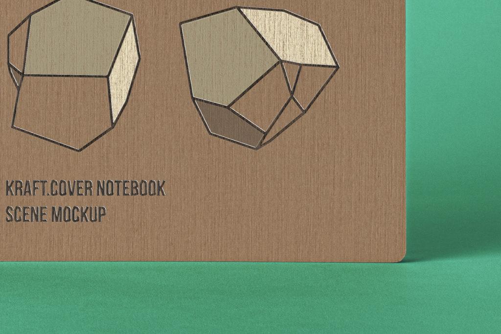 Free Cover Kraft Notebook Mockup PSD Template4