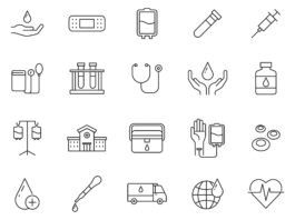 Free Customizable 20 Blood Donation Vector Icons
