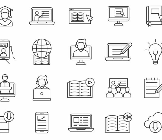 Free Customizable 20 E-learning Vector Icons