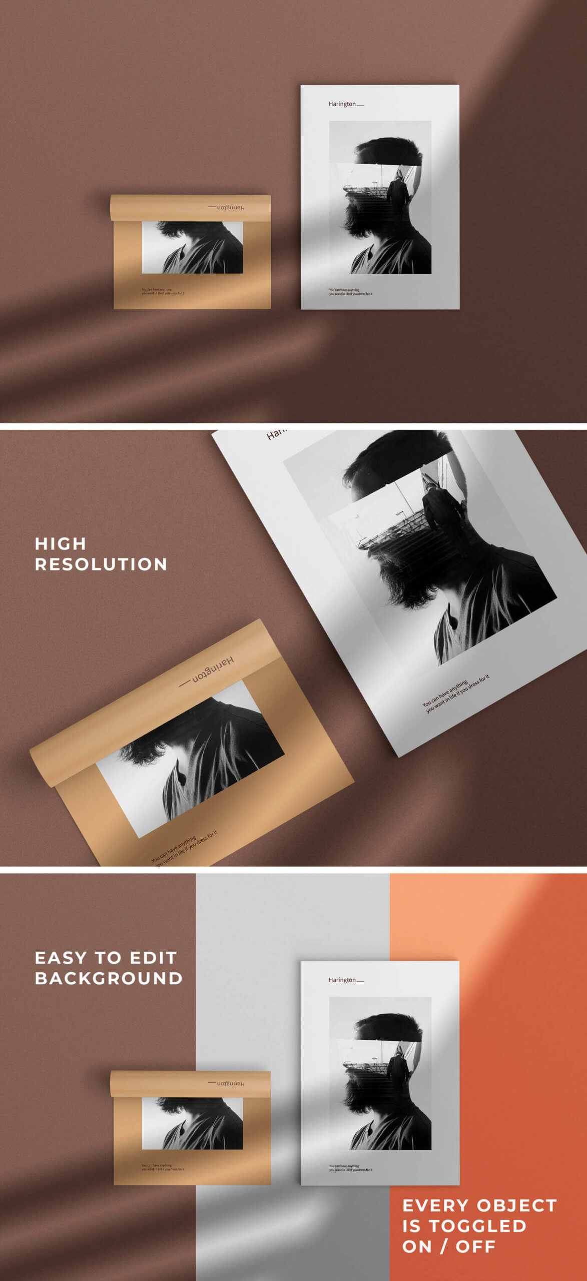 Free Customizable Poster Flyer Mockup PSD Template2