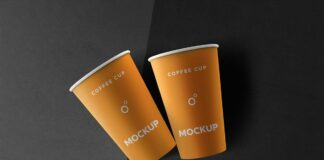 Free Delightful Coffee Cups Mockup PSD Templates