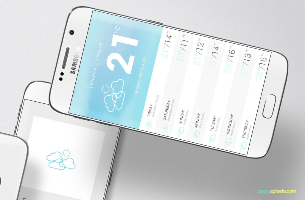 Free Designed Android App Mockup PSD Template5