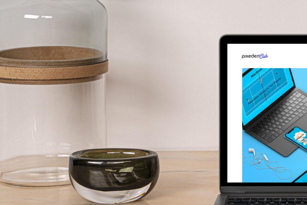 Free Desk MacBook Pro Scene Set Vol2 Mockup PSD Template5