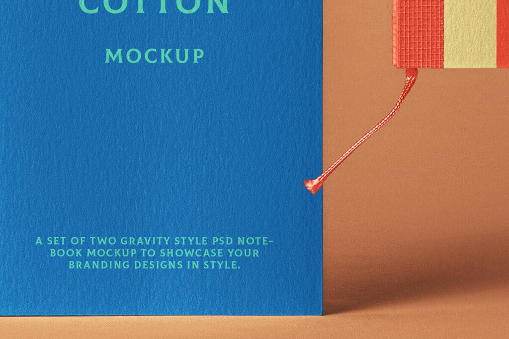 Free Elegant Cotton Notebook Mockup PSD Template3