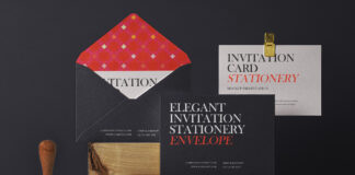 Free Elegant Invitation Envelope Mockup Set PSD Template1