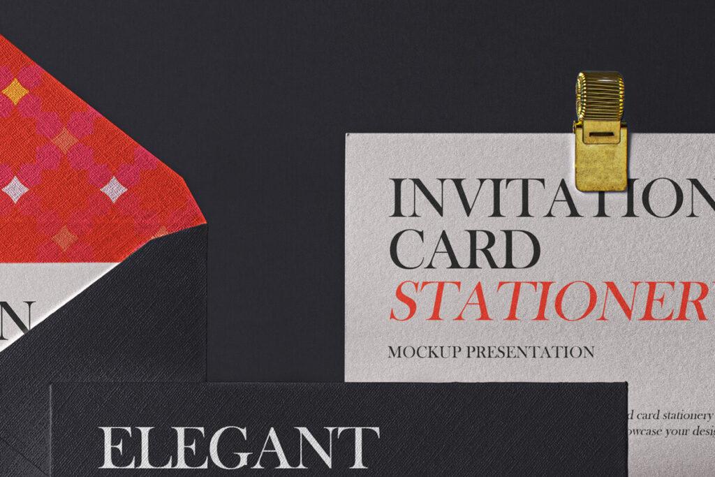 Free Elegant Invitation Envelope Mockup Set PSD Template5