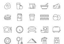 Free Fabulous 20+ Breakfast Vector Icons
