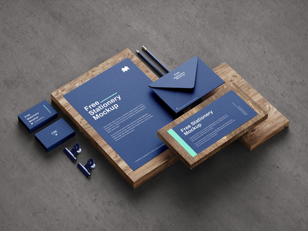 Free Fancy Stationery Mockup PSD Template1