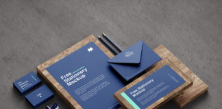 Free Fancy Stationery Mockup PSD Template1