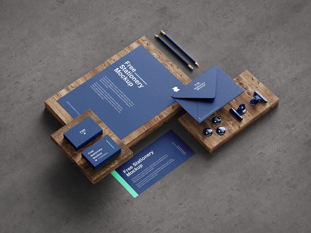 Free Fancy Stationery Mockup PSD Template3