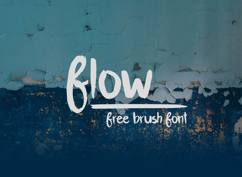 Free Flow Brush Font1