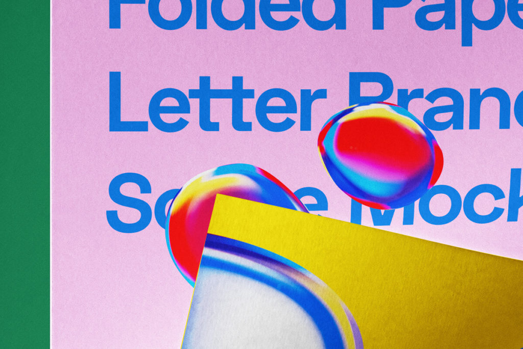 Free Folded Letter PSD Template Paper Mockup 3