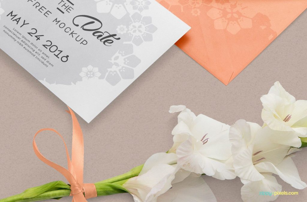 Free Greeting Card Mockup With Envelop