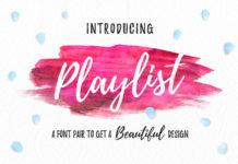 Free Hand-Drawn Playlist Script Font1
