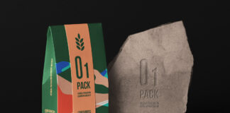 Free Herbal Bag Packaging Mockup PSD Template1