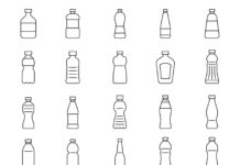 Free Illustrated 20 Bottle Vector Icons
