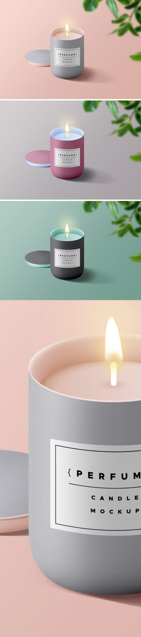 Free Incredible Candle Mockup PSD Template
