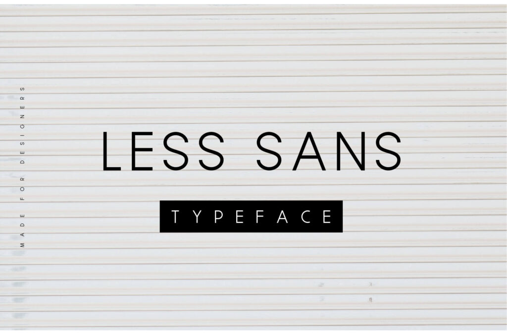 Free Less Sans Minimal Typeface1