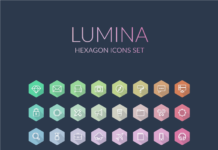 Free Lumina Hexagon Vector Icons Set
